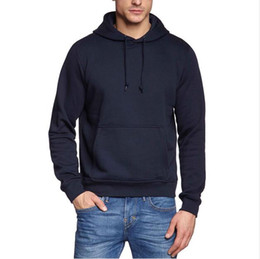 China New Fashion Men's Spring Autumn Cotton Solid Hoodies Street Style Hip Hop Sweatshirt with Cap Fitness Men's Hoodie with Drawstring Pocket XH suppliers