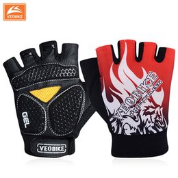 Wholesale VEOBIKE Brand Pro GEL Pad Cycling Ciclismo Gloves Mans Bike Sports Gloves Breathable Racing MTB Bicycle Cycle Gloves
