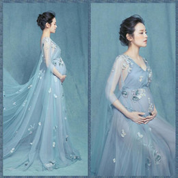 e8ff88c6cb Pregnant Women Dressing Styles Canada - 2017 Maternity Photography Props  Pregnant Dress Women Royal Style lace