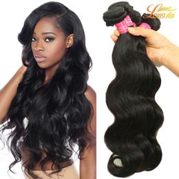 Peruvian indian brazilian hair weave factory online shopping - Virgin Human Hair Factory Brazilian Peruvian Malaysian Indian Body Wave inch Bundles Natural Color Machine Double Weft
