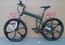 Vente en gros 26 pouces en aluminium pliant cadre de vélo de montagne vélo 21 freins à disque de vitesse 4 couleur choisissez la livraison gratuite