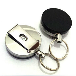 $enCountryForm.capitalKeyWord Canada - Pull the rope pulled 4 cm half metal buckle keychains easy to pull anti-theft telescopic Keychain