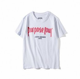 a5b014af 2017 high quality justin bieber purpose tour T Shirt Men women Skateboards  Tee Short Sleeve Skate Tops Hip hop homme Man brand t shirts