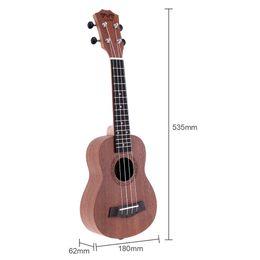 Discount soprano ukulele guitar - 21 Inch Soprano Ukulele Uke Sapele 15 Fret Four Strings Brown Musical Instrument