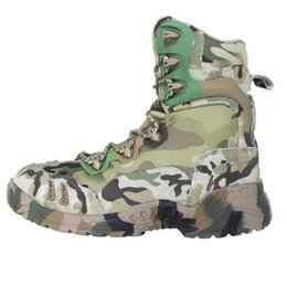 Chinese  Tactical Boots Camouflage Outdoor Shoes Military Desert Combat Boots Waterproof Breathable Wearable Boots Hiking EUR size 39-45 Green Muti manufacturers