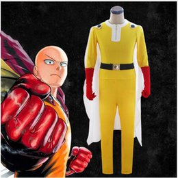Christmas Jumpsuit Costumes NZ - High quality adult cos One Punch Man Saitama Cosplay Costume Set jumpsuit super man costumes ok