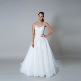 China Illusion Boat Neck Bodice And Illusion Low, v- Back Straps Layers Upon Layers Of Tulle White Wedding Dress Bridal Gowns cheap lace tulle low back wedding dress suppliers