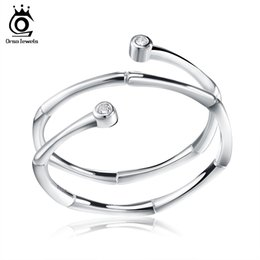 Discount orsa rings - Orsa Jewels Brand Sterling Silver Ring 1,Solid 925 Silver Woman Ring Factory Price Wholesale SR13