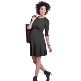 a2fa2d70e1c High Elastic Knee-Length Pregnancy Dresses Clothes for Pregnant Women  Elegant Maternity Dress Office Vestidos Formal Wear