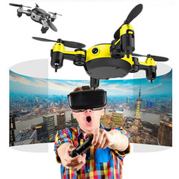 Wifi Electric Australia - Quadrocopter Drone 2017 WiFi Pocket Drone 4CH 6Axis Gyro Quadcopter With Switchable Controller RTF UAV RC Helicopter Mini Drones