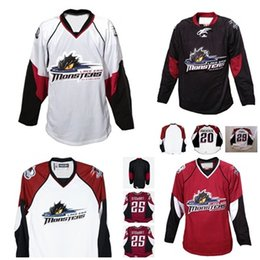 Cleveland Jerseys Canada - 2017 Mens Womens Kids 25 Stewart AHL Cleveland Lake Erie Monsters 100% Embroidery Custom Any Name Any No. Ice Hockey Jerseys Goalit Cut Hot!