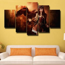 beautiful homes paint pictures NZ - 5 Pcs Set Canvas Print Painting Modern Canvas Wall Art for Wall Pcture Home Decor Artwork Beautiful picture#133
