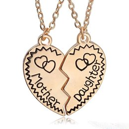 Discount gold mother daughter pendant 2018 gold mother daughter new 2017 mother daughter necklace silver gold heart love mom necklaces pendants for women jewelry collier femme aloadofball Image collections