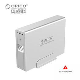 orico external sata hdd enclosure 2019 - Wholesale- ORICO 7618US3 3.5 HDD External Enclosure 3.5 SATA Support Tool Free Hot-swap Intelligent sleep-Black(Not incl