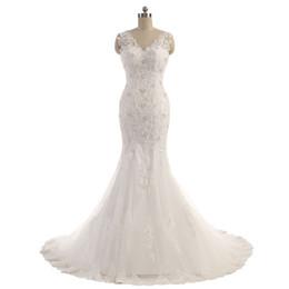 $enCountryForm.capitalKeyWord UK - Mermaid Wedding Dresses Vestido de Noiva Vintage Lace Appliques Bead Robe de Mariage Vestidos de Novia Bride Dresses