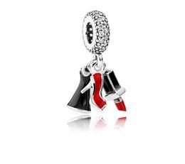 $enCountryForm.capitalKeyWord Australia - Fit Pandora Sterling Silver Bracelet high-heeled shoes Lipstick Dangle Charms European Charm Beads Fit Snake Chain Bracelet DIYJewelry