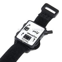 Porteur Grossiste Pas Cher-Vente en gros - Golf Score Stroke Keeper Count Watch Putt Counter Shot With Wristband