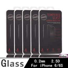 Screen protector free Shipping online shopping - DHL D mm H tempered glass film screen protector for Iphone s plus mm Explosion Proof Film S8