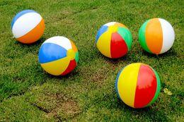$enCountryForm.capitalKeyWord UK - 1000pcs Beach Ball 6 Colour Striped Rainbow Beach Ball Outdoor Beach Ball Water Sports Balloon For Children 23cm