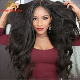 $enCountryForm.capitalKeyWord Canada - Unprocessed Mongolian Virgin Hair Body Wave Wig Glueless Full Lace Human Hair Wigs for Black Women Wavy Glueless Lace Front Wig Pretty Baby