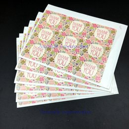 $enCountryForm.capitalKeyWord Canada - 900pcs Thank you Flower pattern DIY Multifunction Seal Sticker Gift Label baking packaging decorative Gift stickers cake decor