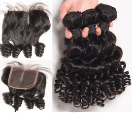 loose wave bundles closures NZ - Cheap Real Brazilian Human Hair Weave Closure Loose wave Hair extension with Frontal lace closure Peruvian Hair bundles With Lace closue