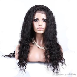 Barato Laço Africano Indiano-Lace Wigs Nice Quality Indian Deep Curly Hair Natural Hairline Full Lace Wigs E Front Lace Wigs For African Women