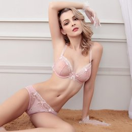 f5c2bda748 Sexy bra suit ultra-thin underwear embroidery soft beads court bra fun  comfortable breathable manufacturers 2019