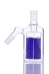 China 8 arms tree ash catcher 90 & 45 degrees for bongs glass water pipe bubbler have blue and green cheap 45 degree pipe suppliers