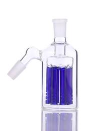 8 brazos cenicero árbol 90 45 grados para bongs tubo de agua de vidrio bubbler tienen azul y verde
