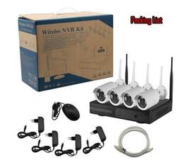 Système de vidéosurveillance de sécurité complète de signal sans fil longue distance HD 4 canaux avec Eseecloud APP Kit Plug and Play Wifi NVR en Solde