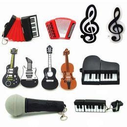 music usb stick 2018 - Cheap Bulk Gifts Music Instrument USB Pendrive Flash Drive 1GB 2GB 4GB 8GB 16GB 32GB USB Memory Stick Guitar Violin disc