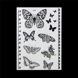 Großhandels-1PC Fashion Flash Wasserdicht Tattoo Frauen Schwarz Tinte Henna Juwel Sexy Spitze BJ024 Schmetterling Armband ChainTemporary Tattoo Aufkleber