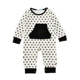 9b2c0fdc9 Baby Rompers Black Crosses Jumpsuits New Kids Clothing Sets Winter Autumn  Spring Long Sleeve Baby Casual Suits Infant Rompers 0-24M