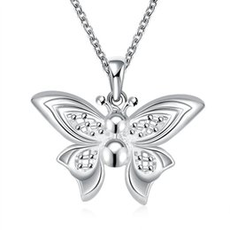 $enCountryForm.capitalKeyWord Canada - 2017 Top Selling Europe&American Hot Classic POP Butterfly Pendant Necklace Silver Plated Vintage Jewelry Factory Price Christmas Party Gift