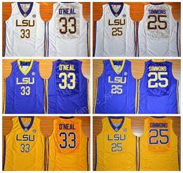 a61f6f60d76 Men 25 Ben Simmons Jersey College LSU Tigers Basketball Jerseys Cheap 33  Shaquille ...