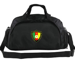 girls football hot NZ - Cameroon duffel bag Hottest team tote Emblem strong backpack Football luggage Sport shoulder duffle Outdoor sling pack