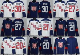 6b2fe430d 2016 World Cup North America Navy White 30 Bishop 27 Mcdonagh 21 Stepan 20  Suter Blank Male Ice Hockey Jerseys Size M~XXXL Free Shipping