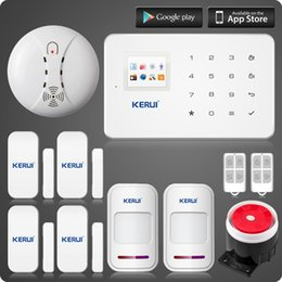 $enCountryForm.capitalKeyWord Australia - LS111- KERUI ios android app GSM home alarm system with touch screen TFT color display Easy Operation+smoke fire detector no battery