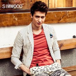 $enCountryForm.capitalKeyWord Canada - Wholesale- Simwood 2016 New Arrival Casual Male Blazer Men Suits Jacket Slim Fit Striped Leisure Coats Mens Blazers Suit XZ011