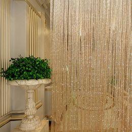 $enCountryForm.capitalKeyWord Canada - Tassel Glitter Curtains String Champagne for Living Room Window Door Shower Curtain Divider Panels Screen Drape Decoration