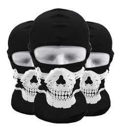 China Tactical hood outdoor cycling Face masks ghost Skull head Mask Motorcycle Skiing Cycling Full Hood Halloween party cosplay costumes mask suppliers