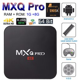 Android tv box 1g online shopping - MXQ Pro Android TV Box Amlogic S905W Quad Core Smart Mini PC G G Support Wifi K H Streaming Google Media Player RK3229