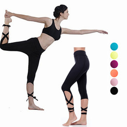 cotton yellow workout pants Canada - Women's Capri Leggings Women's Yoga Pant Leggings Jogger Workout Tights High Waist Breathable Yoga Pants Running Fitness Leggings