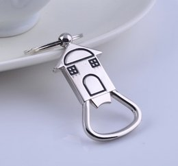 discount unique house gifts house shaped bottle opener keychain shaped zinc alloy silver color key ring - Unique House Gifts