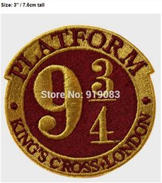 """iron harry potter patch 2019 - 3"""" Harry Potter Platform patch TV Movie Series Uniform applique iron on sew on badge collector For Shirt Cap Sweate"""
