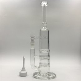 China Mini Dabber Glass Bongs Water Pipes Clear Heady Bong 3 Honeycomb Perc Oil Rig Triple Percolator 14mm Dab Rigs With Ceramic Nail suppliers