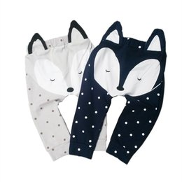 fox tights baby 2019 - Kids Leggings Baby PP Harem Pants Cotton Cartoon Fox Tights Baby Pants Baby Girls Boys Legging Kids Clothes free fast sh