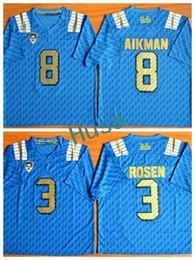 c1fb4ff04 2017 UCLA Bruins College Jerseys 8 Troy Aikman 3 Josh Rosen Sport Jersey  Blue Home For Sport Fans Pure Cotton Breathable Embroider Logo ...
