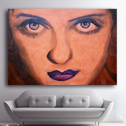 Art Canvas Prints Australia - 1 Pcs Bette Davis Eyes Art HD Prints Poster Wall Pictures Canvas Painting For Living Room Decor No Framed